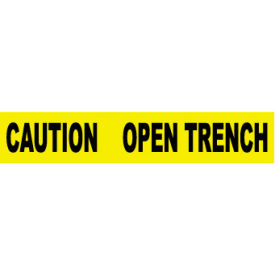 printed barricade tape - caution open trench Printed Barricade Tape - Caution Open Trench