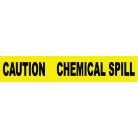 printed barricade tape - caution chemical spill Printed Barricade Tape - Caution Chemical Spill