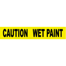 printed barricade tape - caution wet paint Printed Barricade Tape - Caution Wet Paint