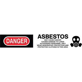 printed barricade tape - danger asbestos cancer and lung disease hazard Printed Barricade Tape - Danger Asbestos Cancer And Lung Disease Hazard
