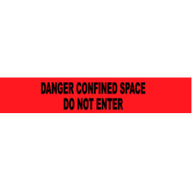 printed barricade tape - danger confined space do not enter Printed Barricade Tape - Danger Confined Space Do Not Enter