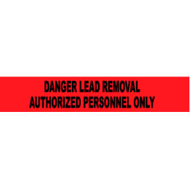 printed barricade tape - danger lead removal authorized personnel only Printed Barricade Tape - Danger Lead Removal Authorized Personnel Only