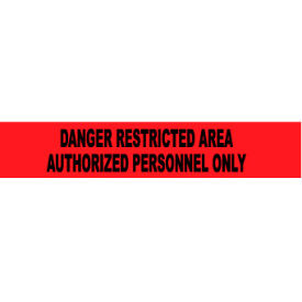 printed barricade tape - danger restricted area authorized personnel only Printed Barricade Tape - Danger Restricted Area Authorized Personnel Only