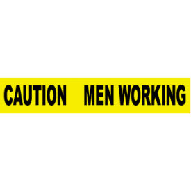 printed barricade tape - caution men working Printed Barricade Tape - Caution Men Working