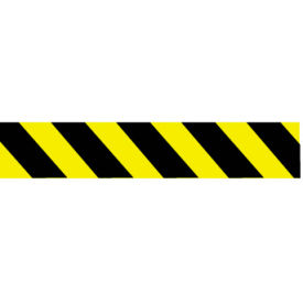 printed barricade tape - yellow and black stripe Printed Barricade Tape - Yellow and Black Stripe