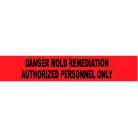 printed barricade tape - danger mold remediation authorized personnel only Printed Barricade Tape - Danger Mold Remediation Authorized Personnel Only