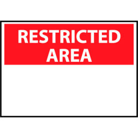 Restricted Area Aluminum - Restricted Area Blank with Header Only
