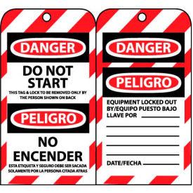 bilingual lockout tags - do not start Bilingual Lockout Tags - Do Not Start