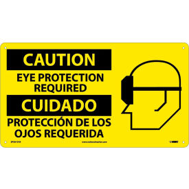 SPSA101R Bilingual Plastic Sign - Caution Eye Protection Required