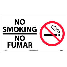 SPSA124P Bilingual Vinyl Sign - No Smoking