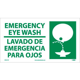 SPSA173P Bilingual Vinyl Sign - Emergency Eye Wash