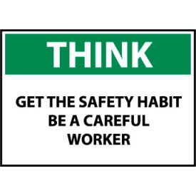 think osha 10x14 plastic - get the safety habit be a careful worker Think Osha 10x14 Plastic - Get The Safety Habit Be A Careful Worker