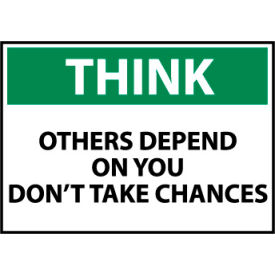 think osha 10x14 plastic - others depend on you dont take chances Think Osha 10x14 Plastic - Others Depend On You Dont Take Chances