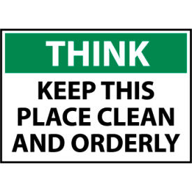 think osha 10x14 plastic - keep this place clean Think Osha 10x14 Plastic - Keep This Place Clean