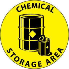 WFS19 Walk On Floor Sign - Chemical Storage Area