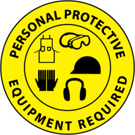 WFS29 Walk On Floor Sign - Personal Protective Equipment Required