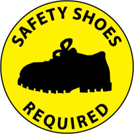 WFS32 Walk On Floor Sign - Safety Shoes Required