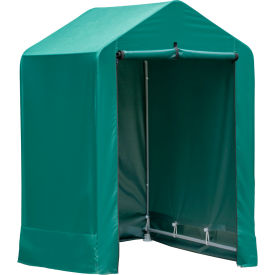 shelterlogic shed-in-a-box, garden shed 4l x 4w x 6h, green