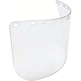 "A8154 Faceshield Window, NORTH SAFETY A8154, Clear, Molded, Universal Fit, 8""H x 15-1/2""W x .04""T, 1 Each"