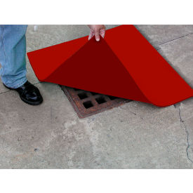 "ENPAC® Spill Protector Drain Cover, 24"" x 24"" x 1/4"", Red, 4324-SP"