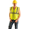 ECO-G-OL/XL Class 2 Solid Vest, Hi-Vis Orange L/XL