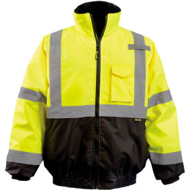 occunomix quilted 2-in-1 black bottom bomber class 3 hi-vis yellow m, lux-350-jb-bym OccuNomix Quilted 2-in-1 Black Bottom Bomber Class 3 Hi-Vis Yellow M, LUX-350-JB-BYM