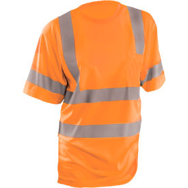 occunomix class 3 classic wicking birdseye t-shirt with pocket orange, l, lux-ssetp3b-ol OccuNomix Class 3 Classic Wicking Birdseye T-Shirt with Pocket Orange, L, LUX-SSETP3B-OL