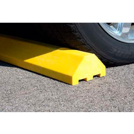 "yellow standard parking block with cable protection & hardware - 72"" long"