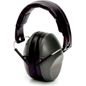 pyramex® low profile earmuff, fold-away, nrr 22db, gray, each Pyramex® Low Profile Earmuff, Fold-Away, NRR 22dB, Gray, Each