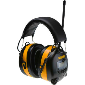 dewalt® dpg15dw earmuff with digital am/fm, nrr 25db, black/yellow DeWALT® DPG15DW Earmuff With Digital AM/FM, NRR 25dB, Black/Yellow