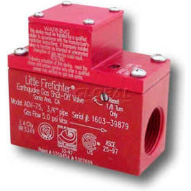 "quakehold!!™ 3/4"" automatic gas shut-off valve, agv-75 QuakeHold!!™ 3/4"" Automatic Gas Shut-Off Valve, AGV-75"