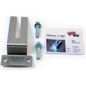"quakehold!!™ 2"" high z-bracket, rz1001, silver QuakeHold!!™ 2"" High Z-Bracket, RZ1001, Silver"