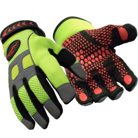 hivis™ super grip glove, hivis lime-yellow - large HiVis™ Super Grip Glove, HiVis Lime-Yellow - Large