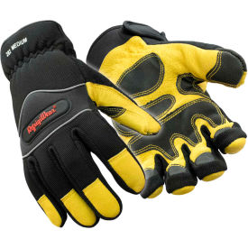 lined high dexterity glove, gold & black - large Lined High Dexterity Glove, Gold & Black - Large