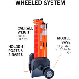 ideal warehouse rapidroll™ portable barrier wheeled system, 50 safety orange fencing, 70-7050 Ideal Warehouse RapidRoll™ Portable Barrier Wheeled System, 50 Safety Orange Fencing, 70-7050