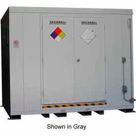 "securall® 10w x 8d x 8 4""h agri-chemical storage building 16 drum Securall® 10W x 8D x 8 4""H Agri-Chemical Storage Building 16 Drum"