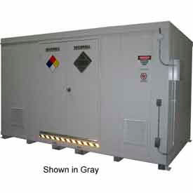 "securall® 18w x 8 x 8 4""h agri-chemical storage building 32 drum Securall® 18W x 8 x 8 4""H Agri-Chemical Storage Building 32 Drum"