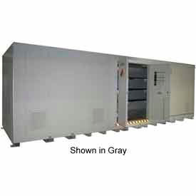 "securall® 34w x 8d x 8 4""h agri-chemical storage building 64 drum Securall® 34W x 8D x 8 4""H Agri-Chemical Storage Building 64 Drum"