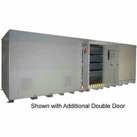 "securall® 42w x 8 x 8 4""h agri chemical storage building 80 drum Securall® 42W x 8 x 8 4""H Agri Chemical Storage Building 80 Drum"