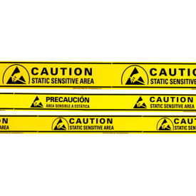 "static solutions esd sensitive aisle warning tape, 2"" x 36 yards, yellow Static Solutions ESD Sensitive Aisle Warning Tape, 2"" x 36 Yards, Yellow"