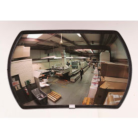 "PLX1218 See All; 160-Degree Round Rectangular Acrylic Convex Mirror - Indoor, 12"" x 18"" - PLX1218"