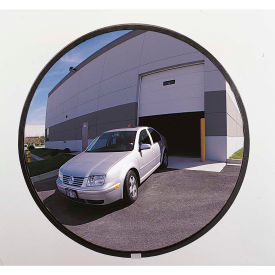 "PLXO18GB See All; 160-Degree Outdoor Acrylic Convex Mirror W/Galvanized Steel Back, 18"" Dia. - PLXO18GB"