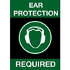 194SEP46BL NoTrax; Safety Message Mat 194 Ear Protection Required 4x6 - Black
