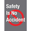 194SNA35CH NoTrax; Safety Message Mat 194 Safety Is No Accident 3x5 - Charcoal