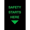 194SSH35BL NoTrax; Safety Message Mat 194 Safety Starts Here 3x5 - Black