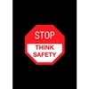 194STS35BL NoTrax; Safety Message Mat 194 Stop Think Safety 3x5 - Black