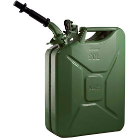 wavian jerry can w/spout & spout adapter, green, 20 liter/5 gallon capacity - 3008 Wavian Jerry Can w/Spout & Spout Adapter, Green, 20 Liter/5 Gallon Capacity - 3008