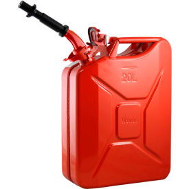 wavian jerry can w/spout & spout adapter, red, 20 liter/5 gallon capacity - 3009 Wavian Jerry Can w/Spout & Spout Adapter, Red, 20 Liter/5 Gallon Capacity - 3009