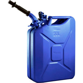 wavian jerry can w/spout & spout adapter, blue, 20 liter/5 gallon capacity - 3012 Wavian Jerry Can w/Spout & Spout Adapter, Blue, 20 Liter/5 Gallon Capacity - 3012