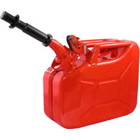 wavian jerry can w/spout & spout adapter, red, 10 liter/2.64 gallon capacity - 3013 Wavian Jerry Can w/Spout & Spout Adapter, Red, 10 Liter/2.64 Gallon Capacity - 3013